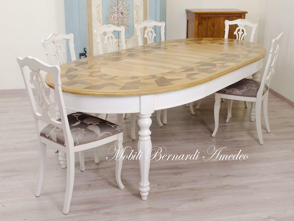Tavolo ovale intarsiato bicolore | Tavolo ovale allungabile … | Flickr