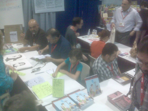 Mario, Gilbert, Natalia & Jaime Hernandez - Fantagraphics at Comic-Con 2010 | by fantagraphics