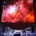 Hubble Image Projected onto Lovell Telescope