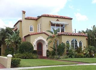 West Palm Beach Spanish Mediterranean Style Historic House