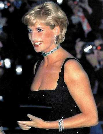 Diana in 1997 princess di wearing a dress with bl flickr