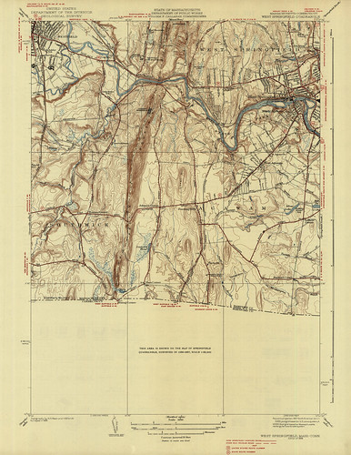 West Springfield Quadrangle 1938 - USGS Topographic Map 1:31,680 | by uconnlibrariesmagic