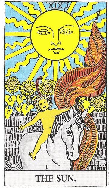 *Carta O Sol Do Tarot Um Bom Dia A Todos Com Esta Energia