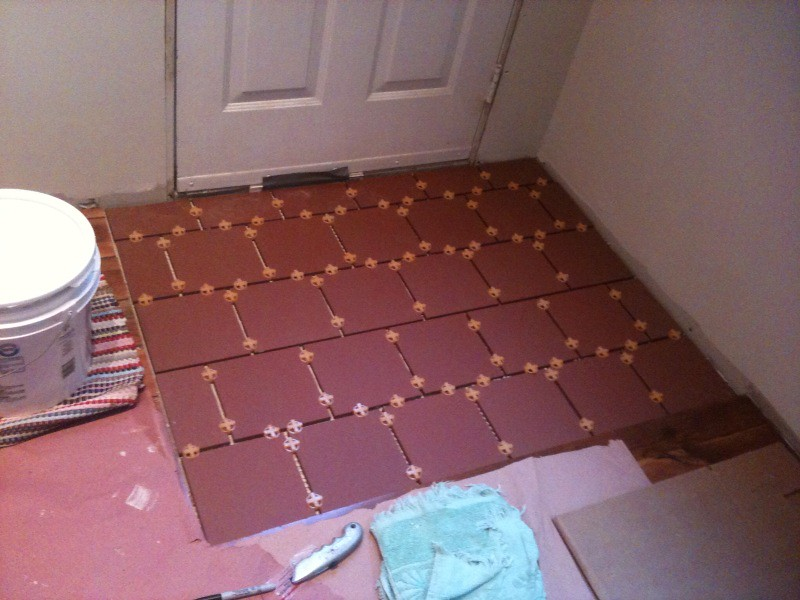 Foyer Tile Job : Entryway tile work this is the smaller of two
