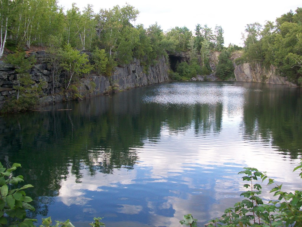 Quarry Pond, Monson Maine | On Pleasant Street, across ...