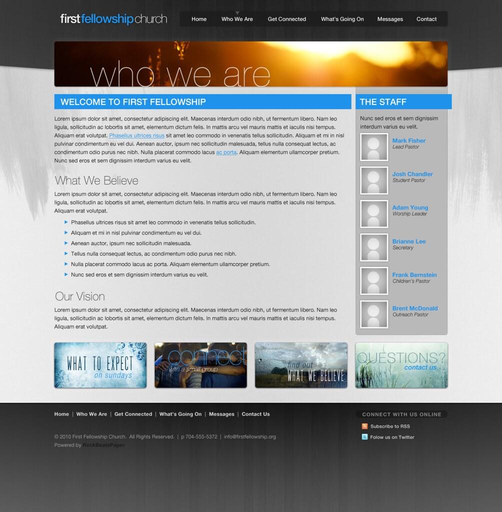 Internship Church Website Templates This Past Summer I In Flickr