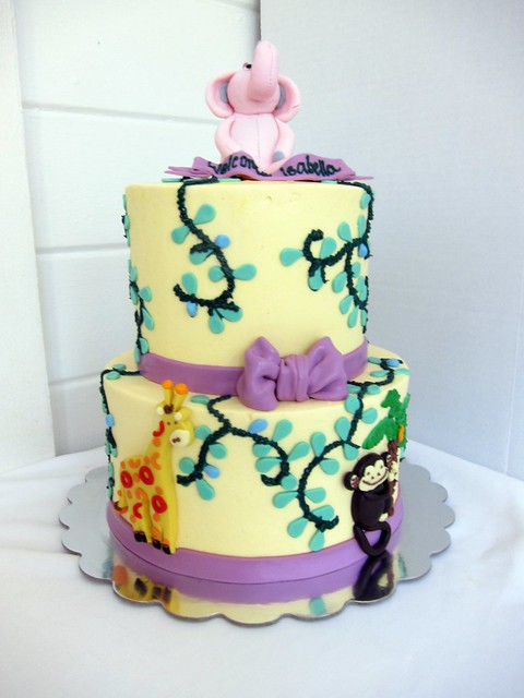 jungle animal baby shower cake explore polkadots olga 39 s