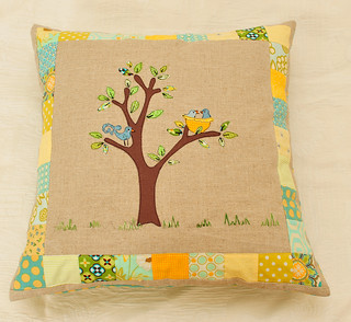 Birdhouse pillow | by Sharon Rotem