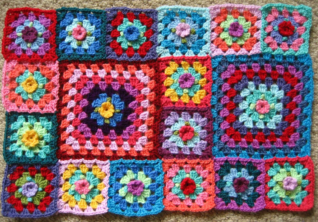A New Blanket Beginning Working On A New Granny Blanket