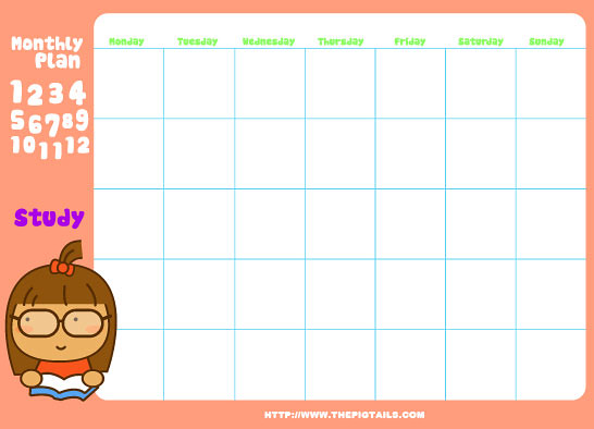 PigtailsCalTemp  You Can Download These Cute Calendar T  Flickr