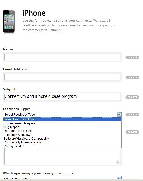 Apple Apple Feedback Form With No Customer Complaint  Flickr