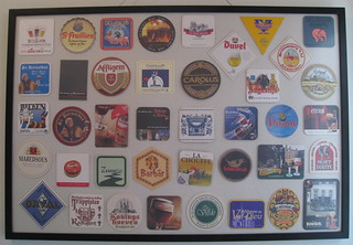 Beer coaster framing - Belgian coasters | by surrealpenguin