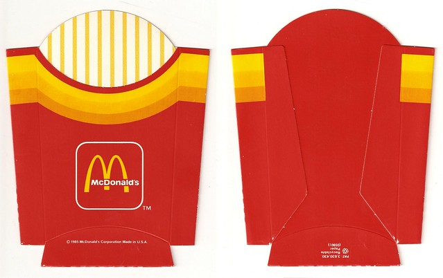 1000 images about miniature fast food printables on pinterest for French fries packaging template