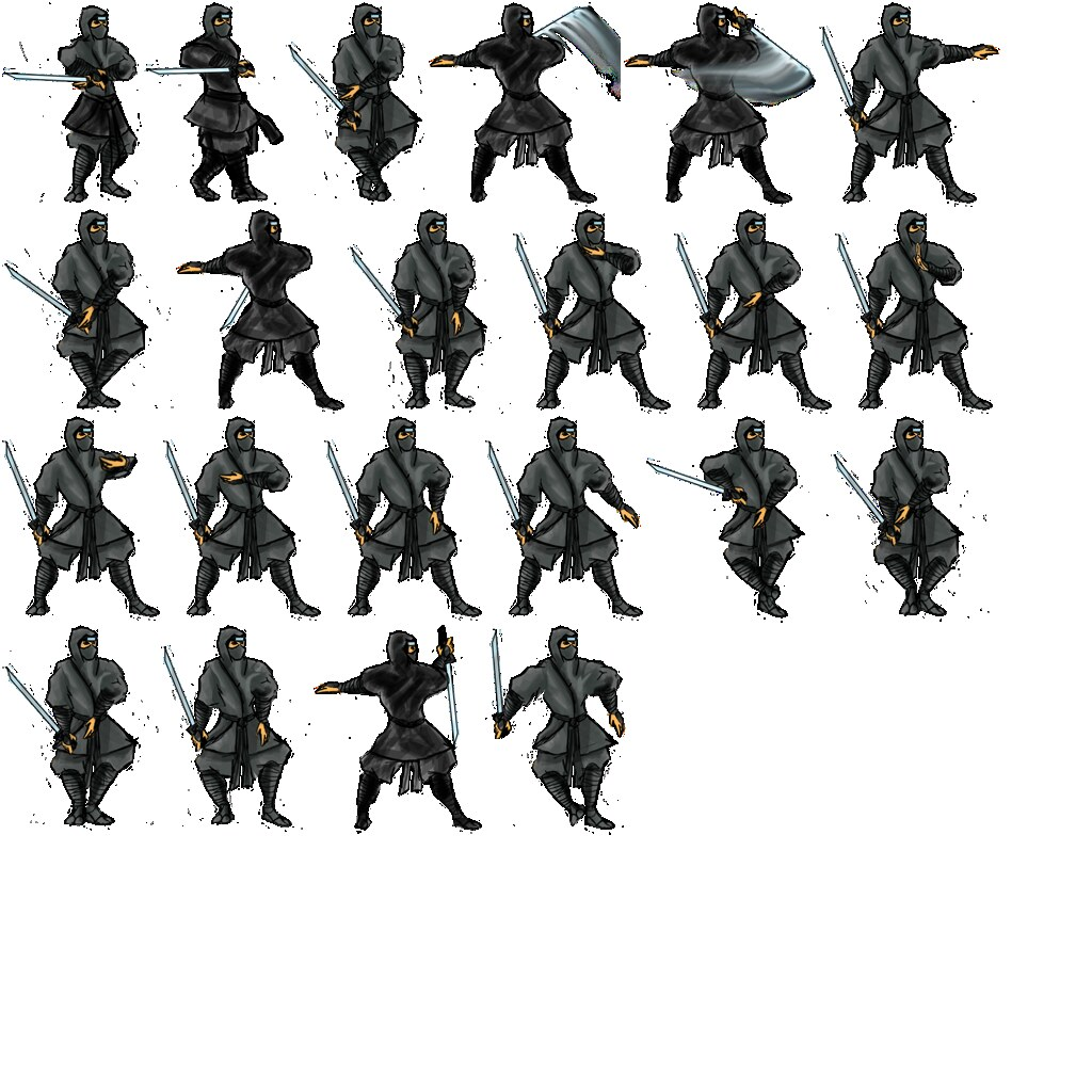 Large Ninja Shinbi Sprite Sheet John Roberts Flickr