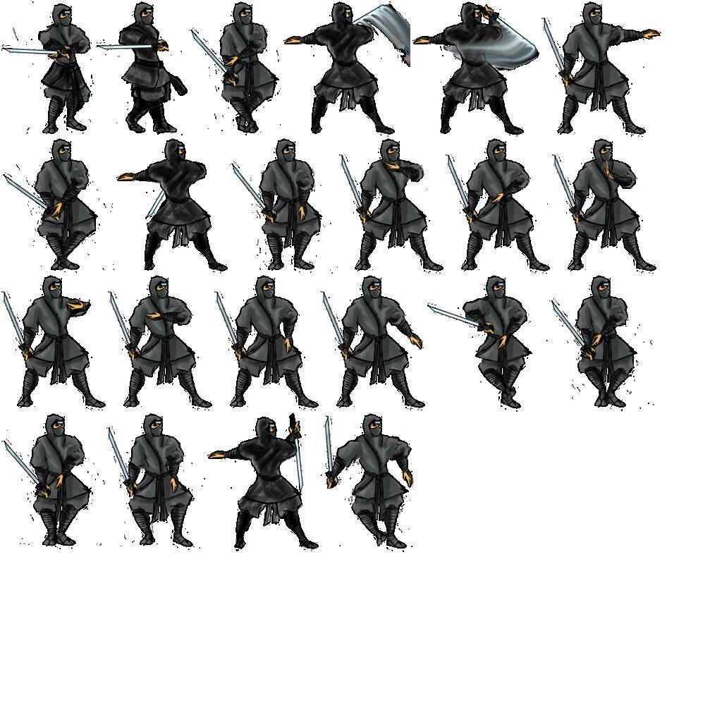 large ninja shinbi sprite sheet | john roberts | Flickr