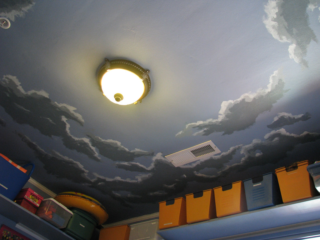 cloudy sky ceiling | i painted these clouds on the ceiling o… | Flickr