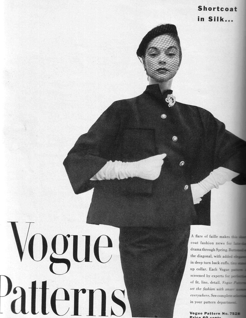 Jean Patchett in Vogue 7258 (not 7528) in Vogue Pattern Book