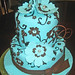 Tiffany blue and brown cake