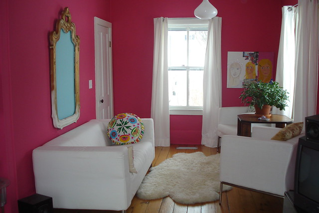 Hot pink living room flickr photo sharing for Hot pink living room ideas