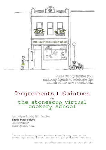 sydney Virtual Cookery School launch invite | by jules:stonesoup