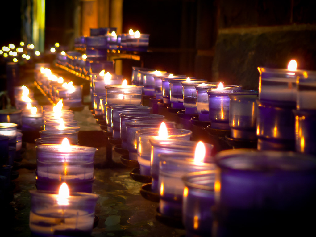 Prayer Candles | Prayer candles in Galway Cathedral. This ...