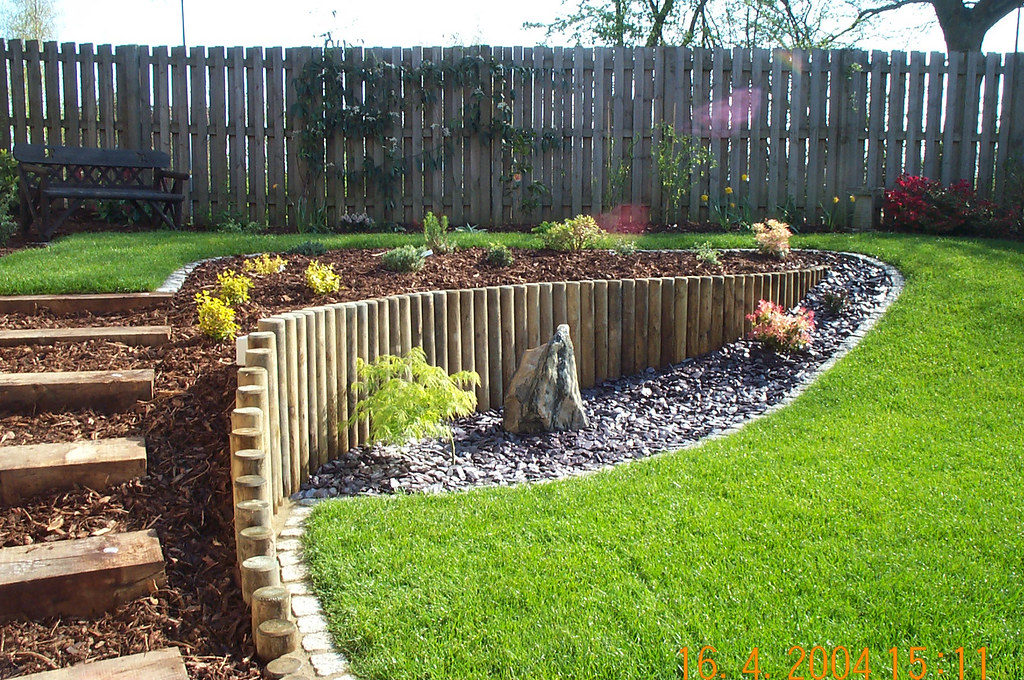 A sloping garden built by Wyld Landscapes | This garden ... on Steep Sloping Garden Ideas id=70557