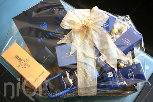 Wedding Gift For Him India : royal blue {&} gold mens ring, skin care and perfume hamper by niQ...