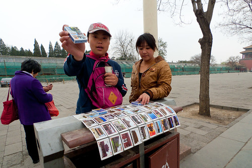 selling cards to a tourist for $0.05, ahem $2 | by Witold Riedel