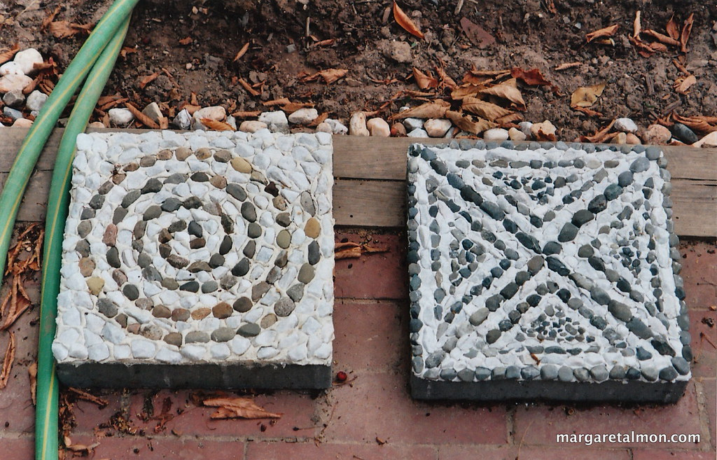 Pebble Mosaic Stepping Stones By Margaret Almon Margaret