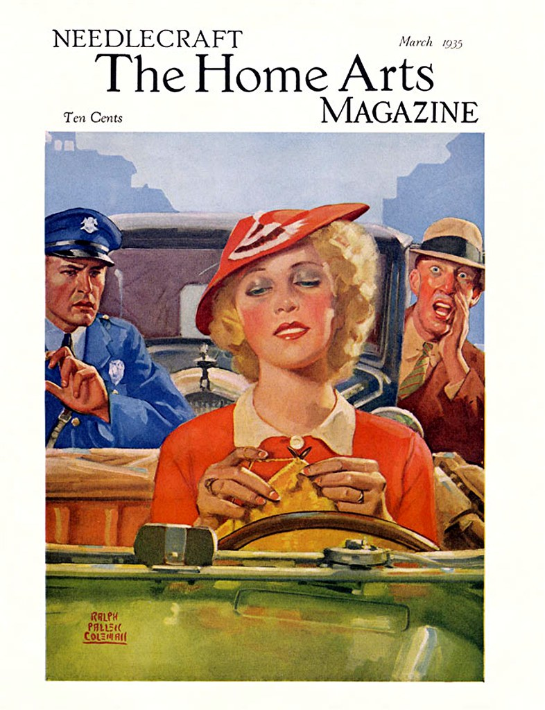 1935 needlecraft the home arts magazine cover of the