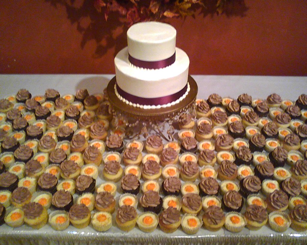 Fall Wedding Cake and Cupcakes II