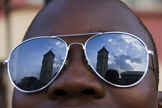 Man wearing reflective glasses | by World Bank Photo Collection