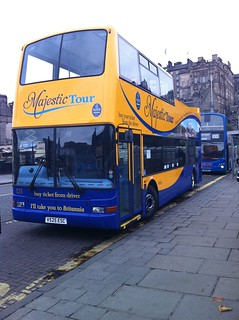 Edinburgh Tours 525 on Majestic Tour on Waverley Bridge, EDINBURGH (19th Oct 2010) | by Steven's Photos UK