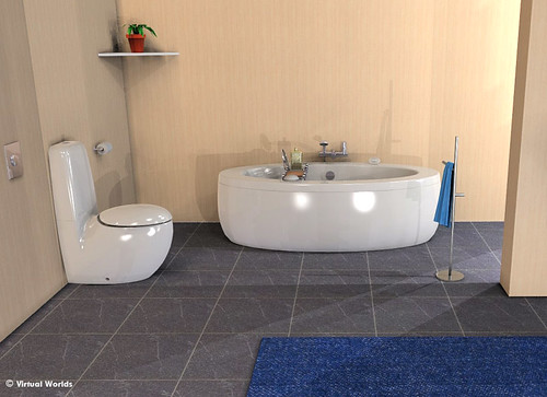 Futuristic Perfect For Bathroom Design Virtual Worlds All Flickr