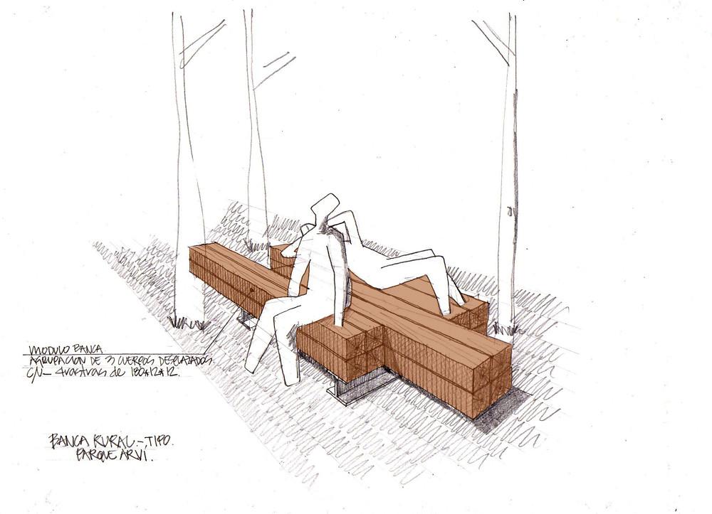Manual de mobiliario parque arv banca tipo parque flickr for Mobiliario urbano tipos