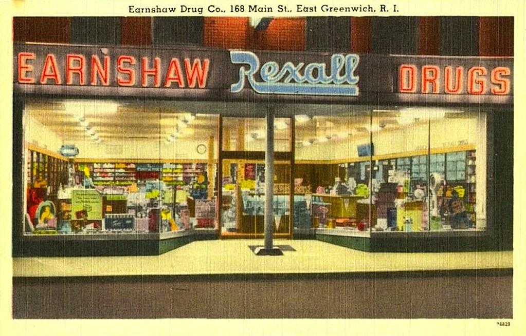 1940s rexall drug store vintage postcard flickr. Black Bedroom Furniture Sets. Home Design Ideas