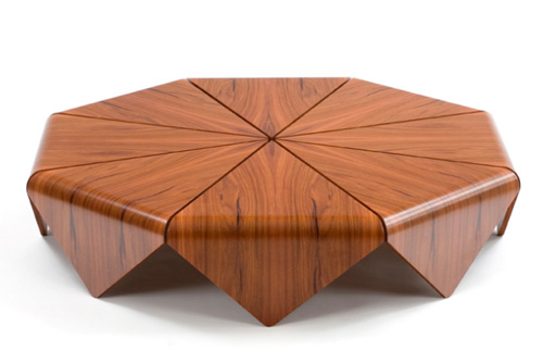 ... Design Inspiration: Handmade Modern Wood Table By Etel U2013 Petalas | By  Design Inspiration Gallery
