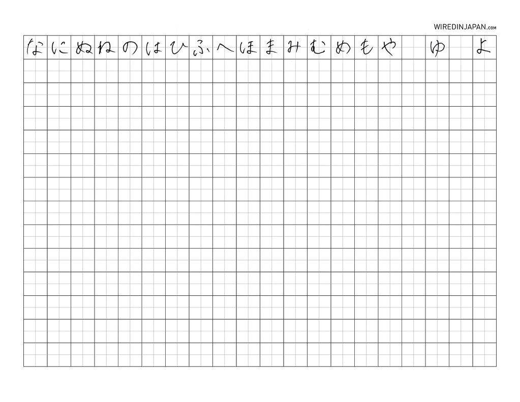 wired kana hiragana and katakana practice sheet 2 flickr
