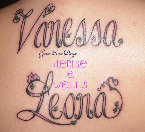 vanessa leona inked name tattoo designs by denise a we flickr. Black Bedroom Furniture Sets. Home Design Ideas