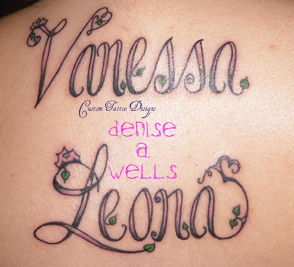 vanessa leona inked name tattoo designs by denise a we flickr. Black Bedroom Furniture Sets. Home Design Ideas