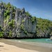 Sabang (Palawan Island), Philippines - Rock formations at a beach on the way to the underground river