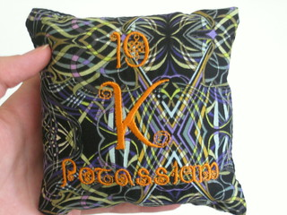 Potassium Elements Pillow | by Alyse Anderson