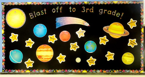 Classroom Decoration Ideas For Grade 3 ~ Blast off to rd grade bulletin board beth sawyer flickr