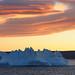 Ice Castle Under Midnight Sun