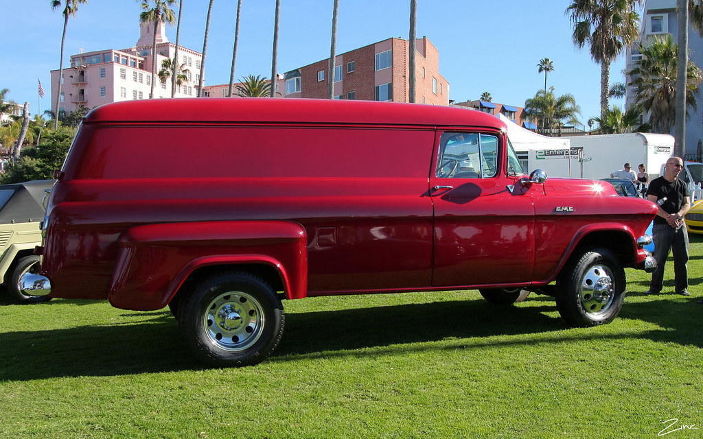 1955 Gmc 250 Factory Dually Panel Truck Red Svr Flickr
