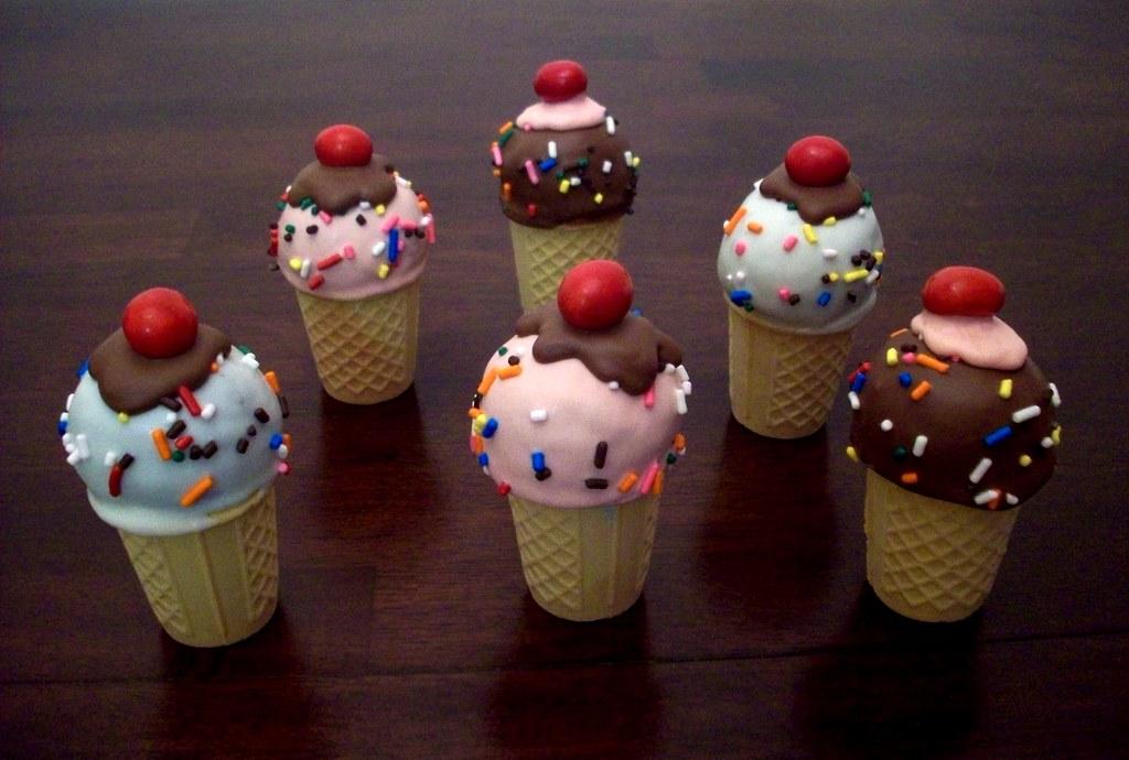 Cake Ice Cream Pops : Ice Cream Pops