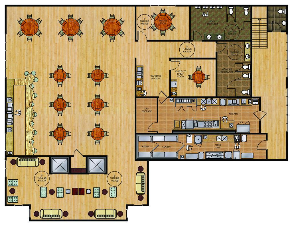 Floor Plans For Restaurants Hawaiian Restaurant 2nd Floor Finish Floor Plan Aesthete