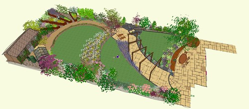 The art deco garden 6 earth designs garden design and for New build garden designs