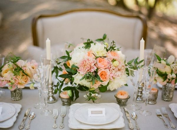 French Table Setting-Joy de Vivre Wedding-Style Me Pretty-… | Flickr
