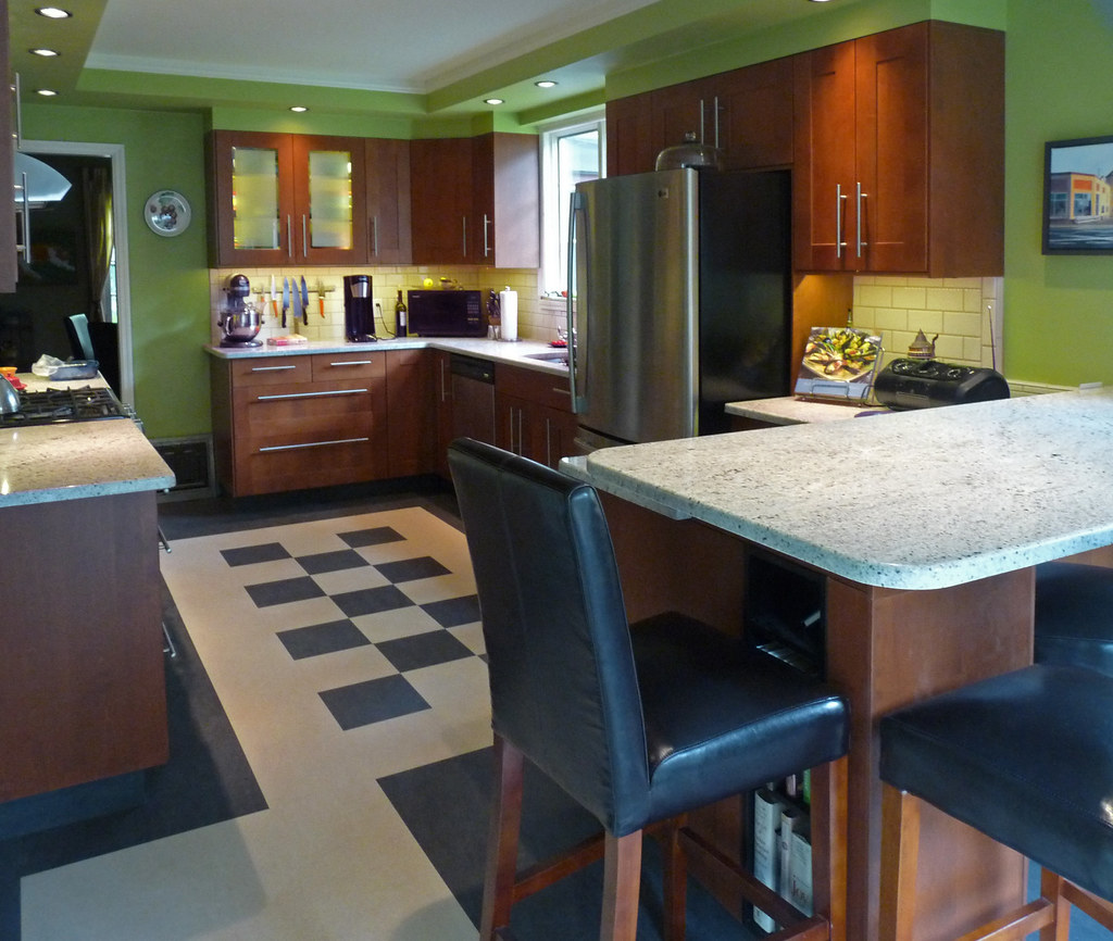 Medium Brown Kitchen Cabinets: Adel Medium Brown Cabinets Lansa